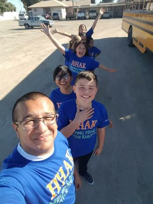The Helping Hands Active Knights YPAR Team from Meadows Union Elementary in Imperial County.